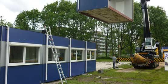 Plaatsing tijdelijke school Beatrixschool Zoetermeer