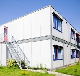 Tijdelijk gebouw opvang asielzoekers Duitsland