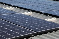 Tijdelijke gebouwen met zonnepanelen